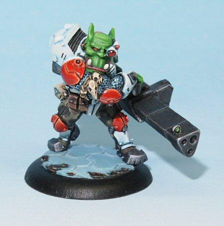 Brutus Space Ork Mercenary miniature