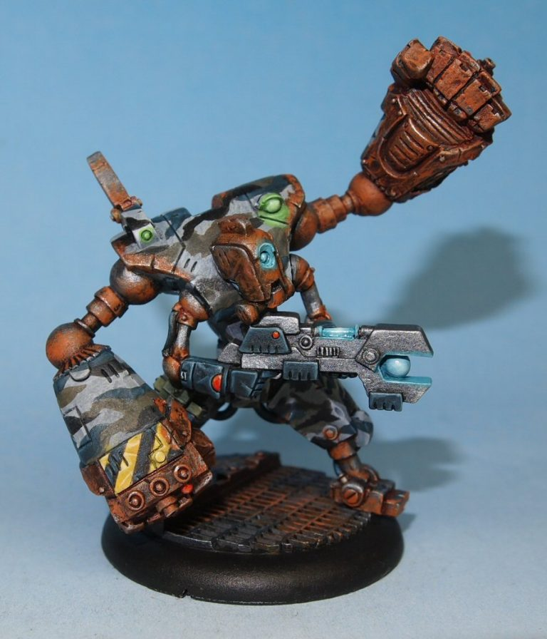 scifi robot model with large fists