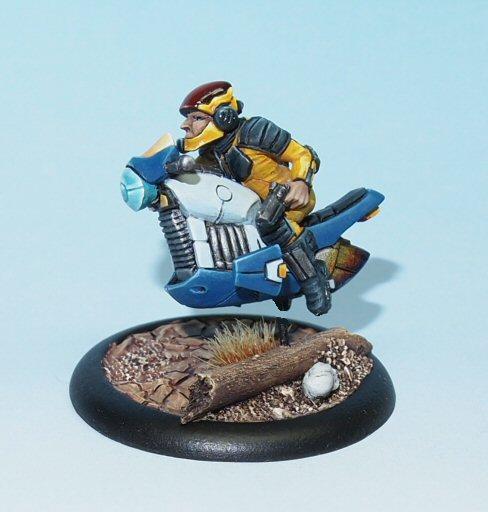scifi space biker
