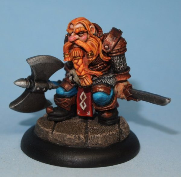 Dwarf warrior with axe Miniature - Grimm-Banethrall