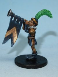 Herald boy miniature with trumpet