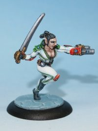 scifi half elf mercenary