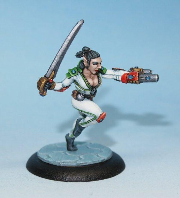 scifi half elf mercenary