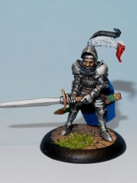 Fantasy Miniature - human Knight - Lord Burkhart