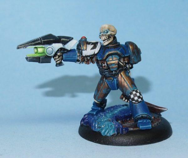 skeleton with ray gun