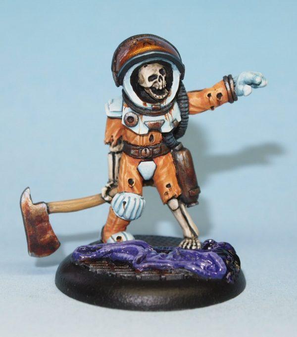 skeleton astronaut miniature