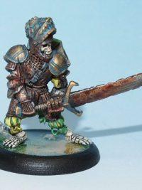 skeletal knight miniature