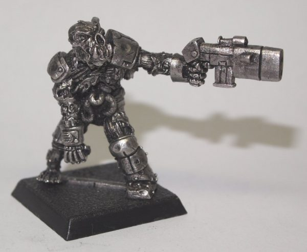 zombie orc miniature with blaster