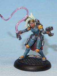 scifi femail bounty hunter miniature - Lileth